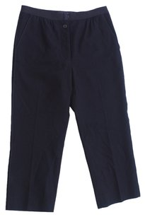 Marc Jacobs Cropped Pleated Wool Capri/Cropped Pants Black