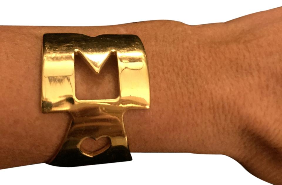 "Marc Jacobs Gold ""Marc"" cuff"