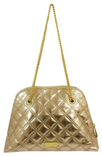 Marc Jacobs Hardware Studded Chain Satchel in Gold