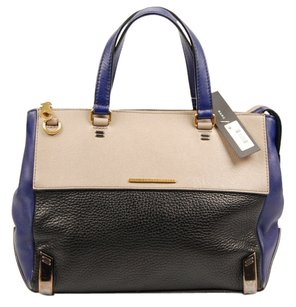 Marc Jacobs Leather Mj Satchel in Black, purple, and cement