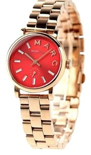 Marc Jacobs MARC BY MARC JACOBS WOMEN'S PETITE BAKER ROSE GOLD TONE RED DIAL WATCH MBM3347