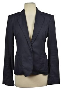 Marc Jacobs Marc Jacobs Womens Navy Blazer Cotton Long Sleeve Career Jacket