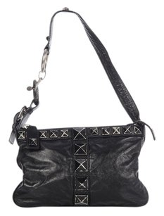 Marc Jacobs Mj.k0219.07 Pyramid Studs Leather Small Shoulder Bag