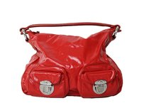 Marc Jacobs Patent Leather Multi Pocket Hobo Bag