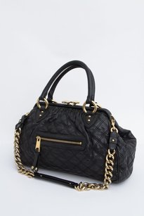 Marc Jacobs Quilted Stam Satchel in Black