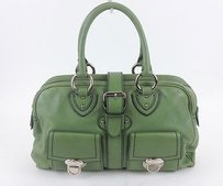 Marc Jacobs Leather Satchel in Green