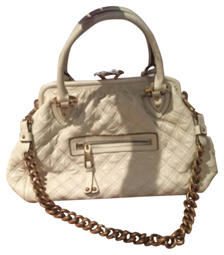 MARC JACOBS Stam Satchel in Ivory, Used
