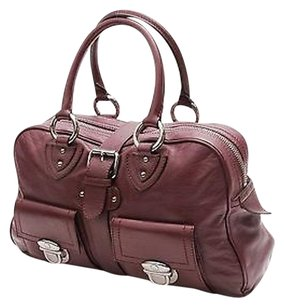 Marc Jacobs Leather Venetia Satchel in Purple