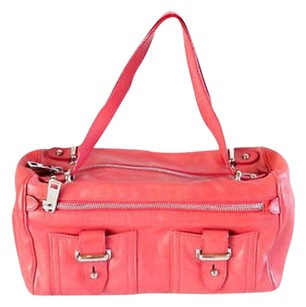 Marc Jacobs Pink Leather Satchel in Reds