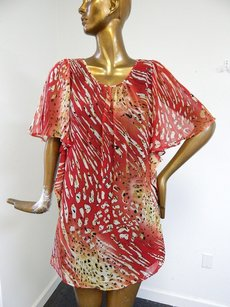 Marc Jacobs short dress Multi-Color Silk Blend Red on Tradesy