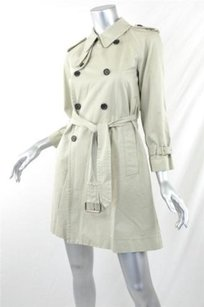Marc Jacobs Womens Beige Belted Trench Jacket Trench Coat