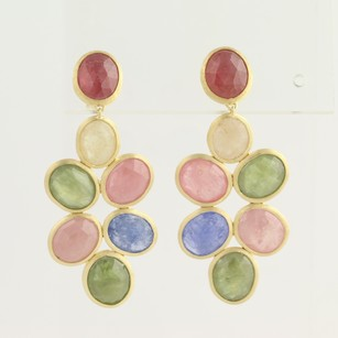 Marco Bicego Marco Bicego Siviglia Multi-colored Sapphire Earrings - 18k Yellow Gold Pierced
