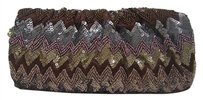 Marco Santi Burgundy Grey Taupe Multi-Color Clutch