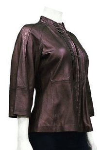 Margaret Godfrey Burgundy Metaillic Jacket