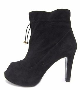 Marina Rinaldi Suede Peep Toe 80647mm Blacks Boots