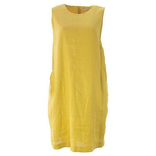 Marina Rinaldi short dress Yellow Shift on Tradesy