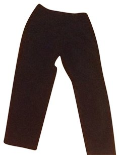 Mark Shale Suede Leather Suede Boot Cut Pants Black