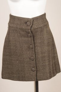 Marni Cashmere Tweed A Skirt Brown