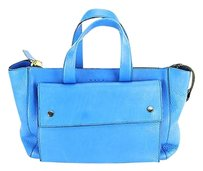 Marni Womens Calf Tote in blue