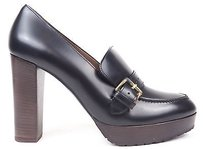 Marni Leather Buckle Loafer Pumps Heels Eu Black Platforms