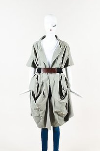 Marni Cotton Belted Ss Khaki Jacket