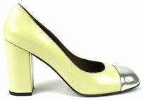 Marni Bamboo Silver Yellow Pumps