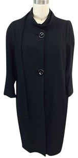 Marni Summer 2012 Cotton Two Button One Tie Coat Black Jacket