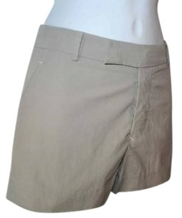 Marni Clay Button Fly Cotton Shorts Beiges