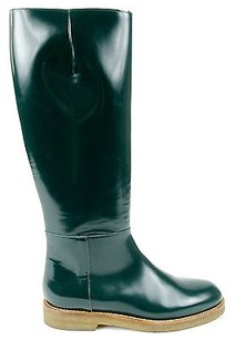 Marni Forest Leather Green Boots
