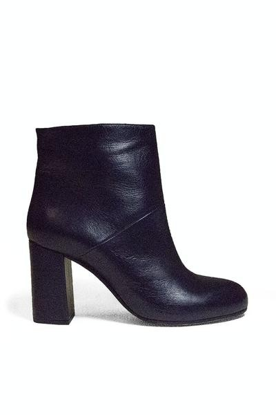 Marni Navy Leather Ankle Boots/Booties Size US 6.5 Regular (M, B)