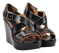 Marni Leather Buckle Black Sandals