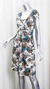 Marni Teal Floral Scoop Dress