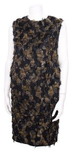 Marni short dress Multi-Color Black Bronze Fuzzy Textured Polka Dot Jacquard Sleeveless Shift 440 on Tradesy
