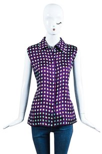 Marni Green Geometric Top Purple