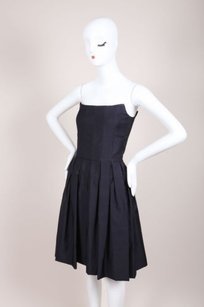 MARTIN GRANT Navy Wool Silk Dress