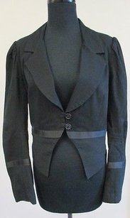 Mason Cotton Fitted Two Black Jacket