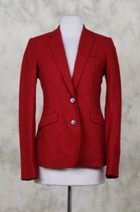 Massimo Dutti Massimo Dutti Womens Red Blazer Cotton Career Jacket