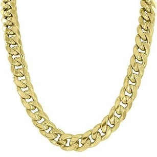 Master Of Bling 11mm Miami Cuban Necklace 10k Real Yellow Gold Inches Mens Unique Style