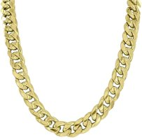 11mm Miami Cuban Necklace 10k Real Yellow Gold Inches Mens Unique Style