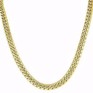Master Of Bling Miami Cuban 26 Necklace 10k Yellow Gold Mens Designer Chain Mm