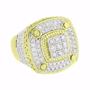 Real Diamond Mens Ring Custom Miami Cuban Screw Design 14k Gold Ct Classy
