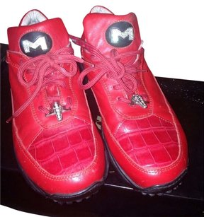 Maurices Leather Leathersneakers Red Athletic
