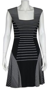Max and Cleo Womens Striped Casual Sleeveless Knee Length Sheath Dress