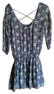 Max & Co. short dress Black with blue flower Spring Summer on Tradesy