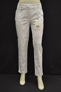 Max Mara 2egemone White Cotton Capri/Cropped Pants Whites