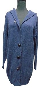Max Mara Weekend Blue Thin Knit Long Sleeved Button Cardigan 4649a Sweater