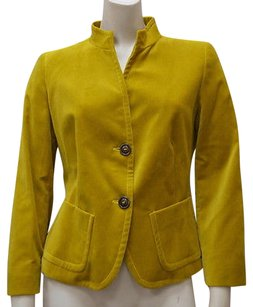 Max Mara Weekend Maxmara Mustard Gold Velvet Jacketblazer 130427mm