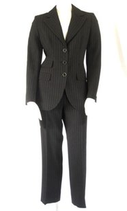 Max Mara Max Mara Brown Striped Lightweight Wool 2pc Blazer Jacket Pantsuit