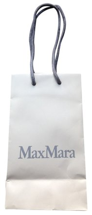 Max Mara MaxMara paper shopping gift bag white