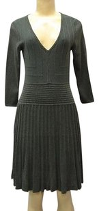 Max Studio short dress Green Dark Knit V Neck Ribbed Detail Sweater 210162st on Tradesy